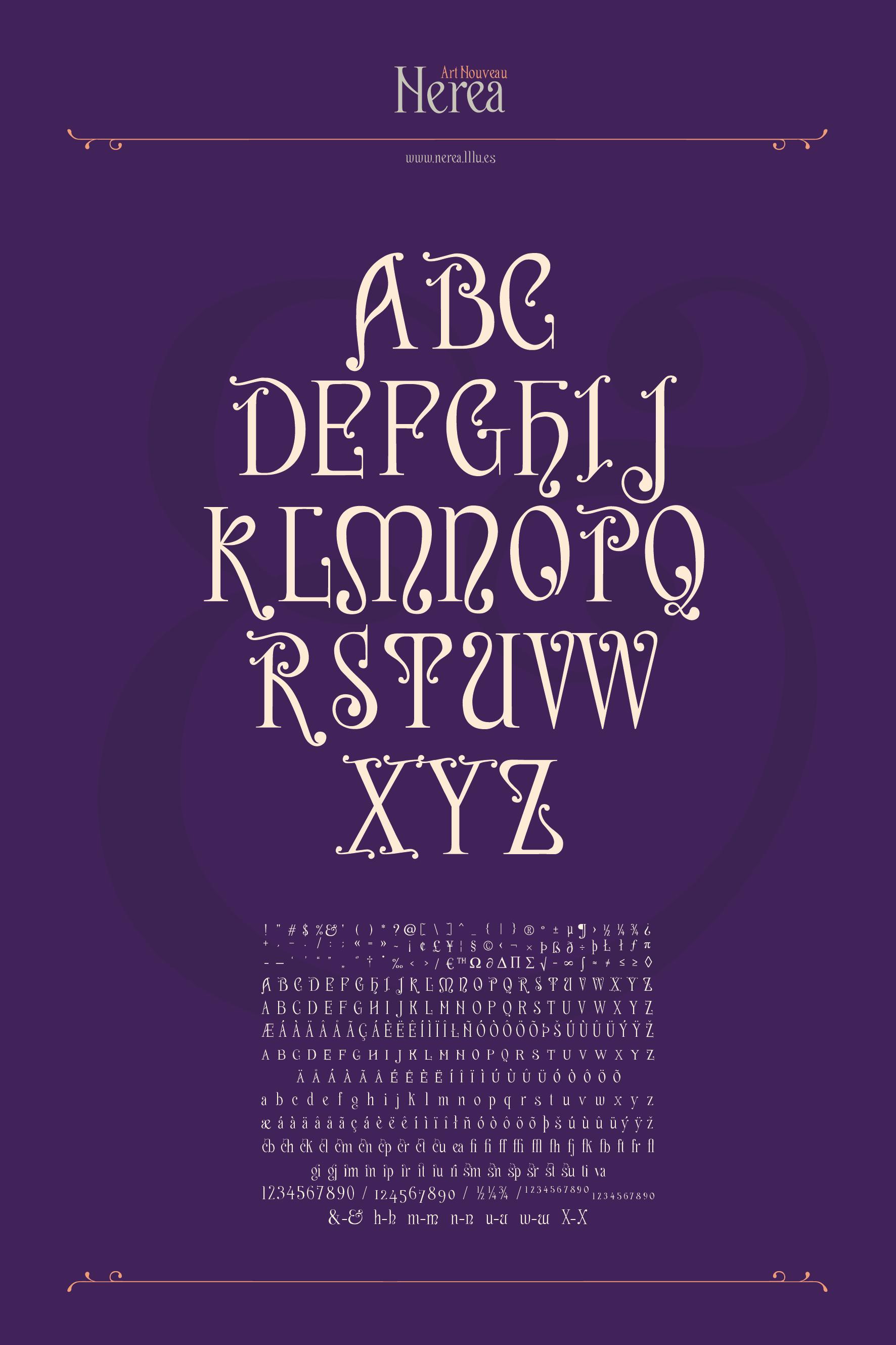 nerea-art-nouveau-typography